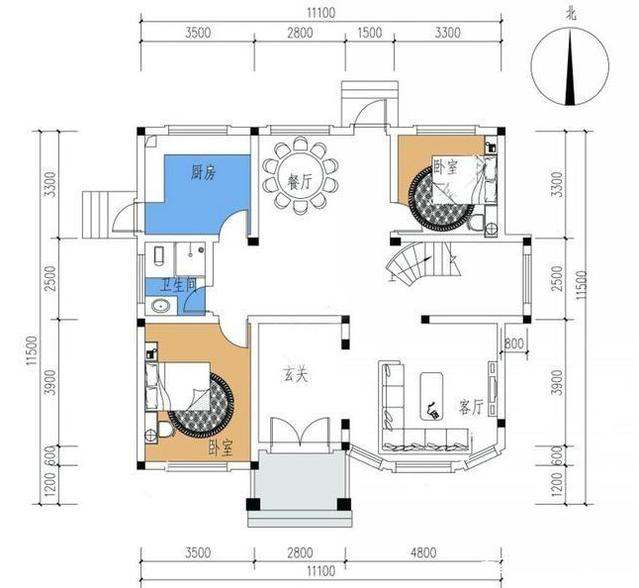 建房三套信息自精选设计图,占地80到120平方东莞装修设计v信息农村图片
