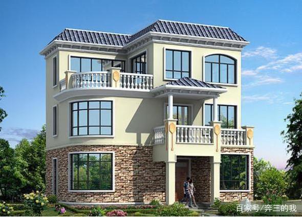 精选三套影楼自建房设计图,占地80到120平方农村装修装潢设计图片