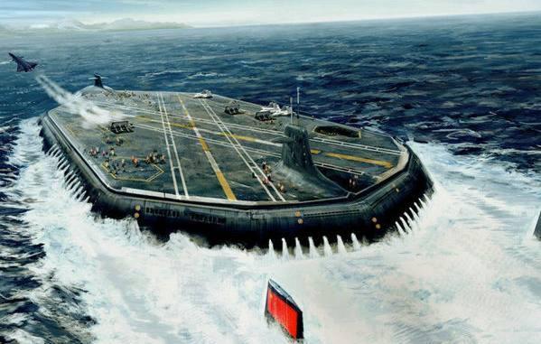 核航母太平常,外媒曝中国潜水航母,带防水机库,可装40架飞机