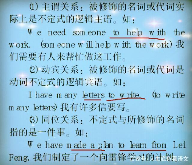 初中英语,动词不定式解析全面用法初中作文后记图片