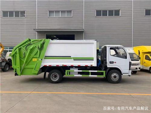 国六东风多利卡D6压缩式垃圾车通过车厢、填装器和推铲等专用装置