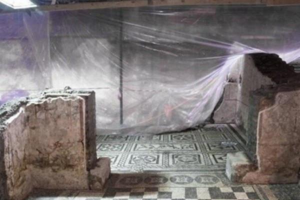 罗马地铁工地挖出2000年前豪宅