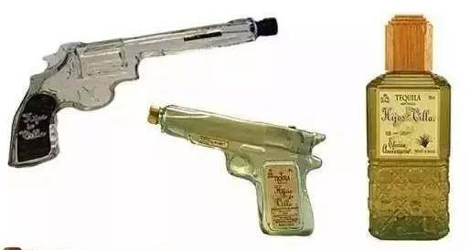 创意酒瓶设计手枪龙舌兰:每一次对瓶吹,都像吞枪自尽