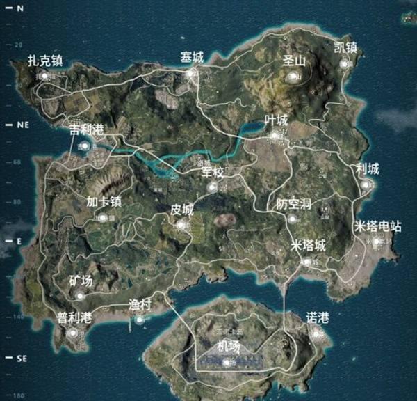 绝地求生中文地图曝光